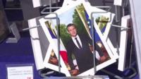 Postcard of President Macron