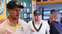 Cameron Bancroft and Steve Smith