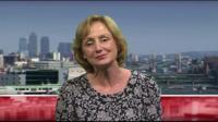 Dr Rosemary Leonard speaking to BBC News