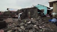 Rubble of destroyed home in Aparri, Philippines