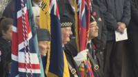 Veterans observe the two-minute silence