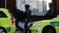 Armed police at Parsons Green