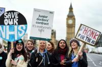 Junior doctors striking