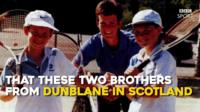 Andy Murray and Jamie Murray as children