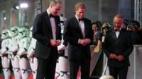 Princes William and Harry were among those attending the Star Wars premiere in London.