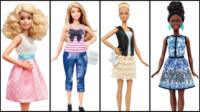 Composite image of new Barbie models