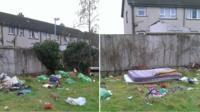 Derelict house rubbish