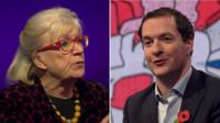 Composite image of Polly Toynbee and George Osborne
