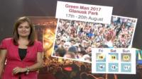 Green Man festival weather