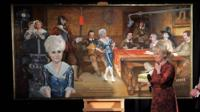 Dame Barbara Windsor unveils a painting