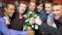 Men on a stag do wit brew
