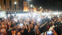 Тысячи человек вышли на улицы Тбилиси из-за резонансного дела об убийстве подростков.