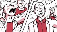Scene from comic strip