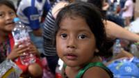 Honduran migrants reach Mexico.