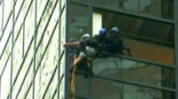Задержание мужчины, пытавшегося забраться на небоскреб
