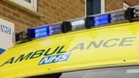 An NHS ambulance