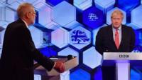 Борис Джонсон и Джереми Корбин в предвыборных дебатах Би-би-си