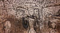 The 14th Century chalk carvings have been damaged by water and gnat larvae, say Historic England.