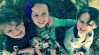 Three of Melissa Manuel's grandchildren