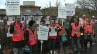 Junior doctors on the picket line at Harrogate General Hospital