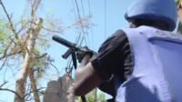 UN peacekeeper in Haiti
