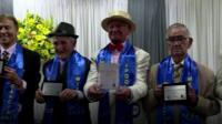 Sao Paulo's elderly men take to the catwalk