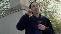 A poet raps to commemorate the soldiers who fought in WW1