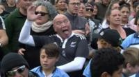 SNTV (Associated Press) footage shows an attempt to beat the world's largest haka record in Rotorua, New Zealand