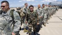 National Guardsmen arrive at the border