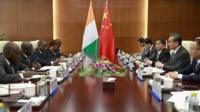 Meeting of Chinese ministers with a delegation from the Ivory Coast