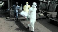 Carrying ebola victim