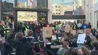 Black Friday protest in Brighton