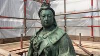 Queen Victoria statue has stood in Birmingham since 1901.