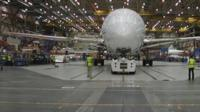Dreamliner shell in hanger