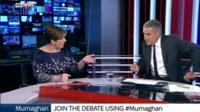 Shadow Emily Thornberry and Sky News presenter Dermot Murnaghan