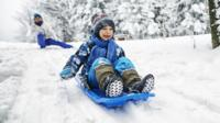 Boy in snow.