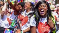 People celebrate Pride in London