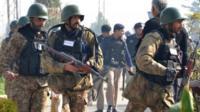 Armed soldiers in Pakistan