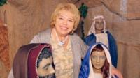 Life-size mannequin nativity scene