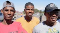 Gang members pose in Cape Town