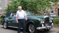 Charles Palmer beside Bentley S1 Continental