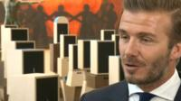 David Beckham speaking to the BBC's Laura Trevelyan in New York