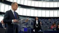 Donald Tusk at the European Parliament