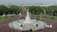 Still from timelapse footage taken from the roof of Buckingham Palace
