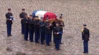 Arnaud Beltrame's coffin