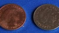 A 'silver' two pence coin