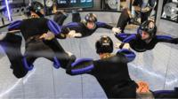Indoor skydivers