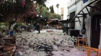 Earthquake damage in Kos