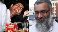 Anjem Choudary, then and now