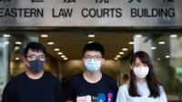 Activists outside Hong Kong court